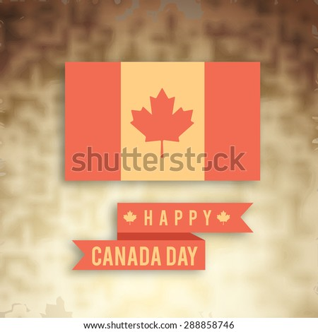 Happy Canada Day. - stock vector