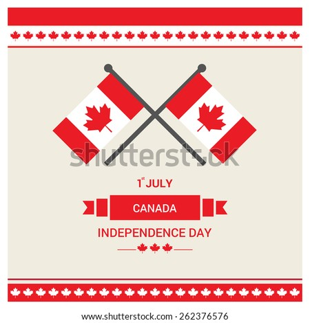 Happy Canada Day card in vector format. | independence day | Republic Day - Republic of Canada National Celebration Card, Background, Badges Vector Template - stock vector