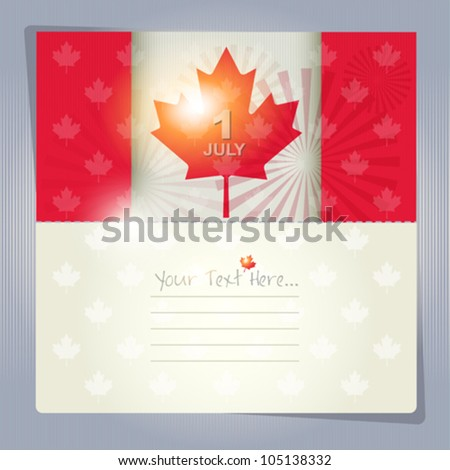 Happy Canada Day card or background. July 1. - stock vector