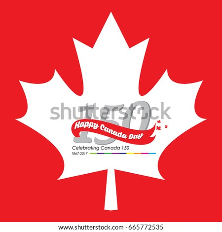 Happy canada day vector greetings illustration stock vector happy canada day vector greetings illustration for banners and backgrounds 150 years of canadian independence m4hsunfo