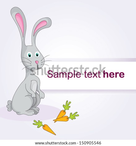Happy card illustration with easter bunny. vector file - stock vector
