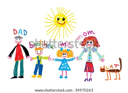 happy childhood - stock vector