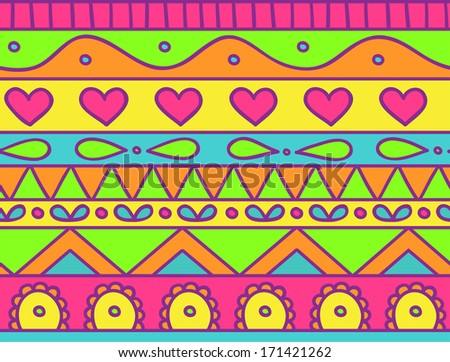 Happy childish seamless doodle pattern - stock vector