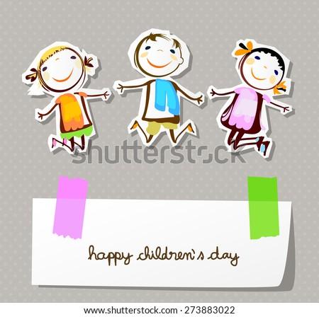 happy children day  - stock vector