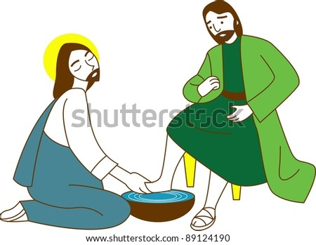 Happy Christian - religion christianity - stock vector
