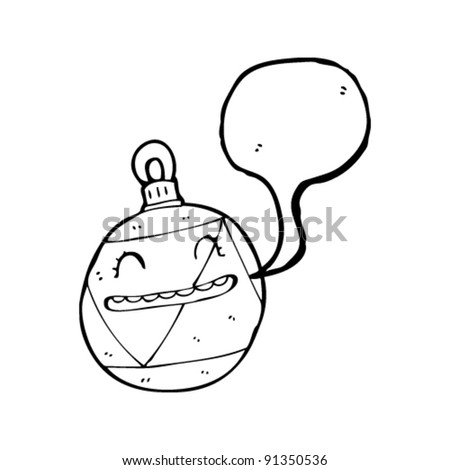 happy christmas bauble cartoon