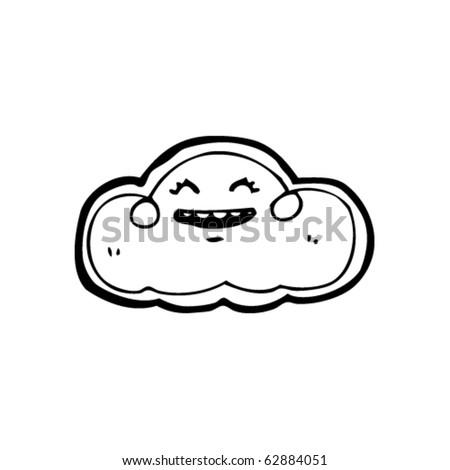 happy cloud cartoon - stock vector