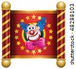 Happy Clown Theme - stock vector
