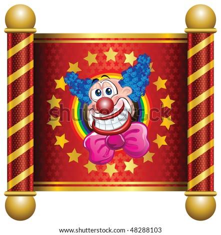 Happy Clown Theme - stock vector