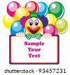 Happy Clown with balloons - stock vector