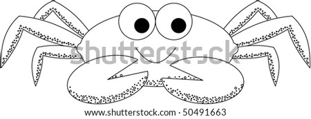 Happy Crab - stock vector