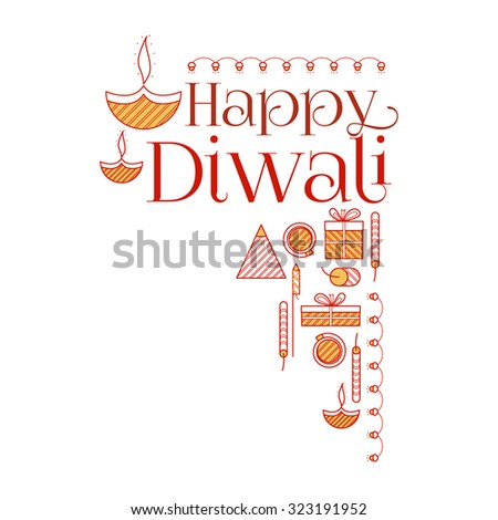 Happy Diwali - stock vector