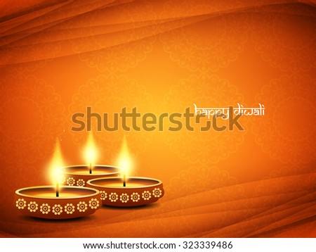 Happy Diwali beautiful vector background design. - stock vector