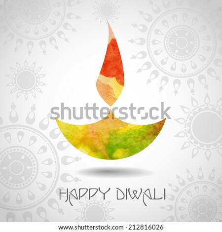 Happy Diwali Festival. Vector illustration. Eps 10. - stock vector