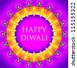 happy diwali motif design - stock vector