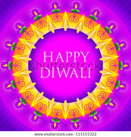 happy diwali motif design - stock vector