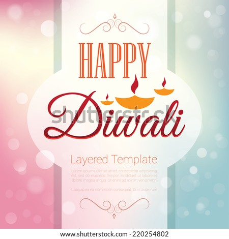 Happy Diwali  - Poster / Template / Background Design/ greeting - stock vector