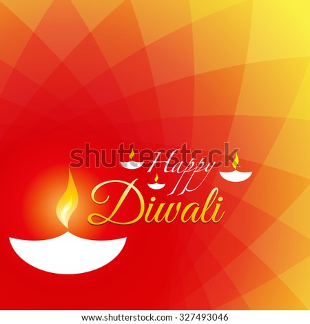 Happy Diwali Poster with bright and colorful Mesh Background.   - stock vector