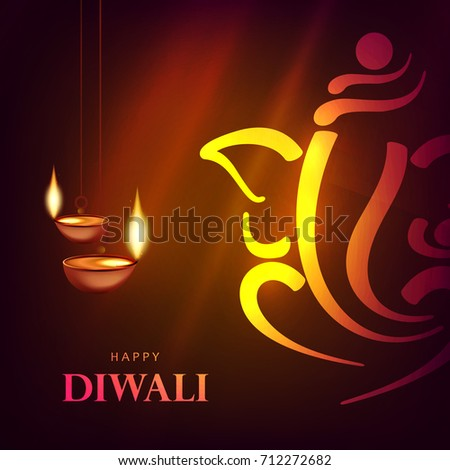 cool happy diwali wallpaper design template with diwali oil lamp wallpaper