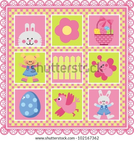 Happy Easter! A set of vector images on the theme of Easter