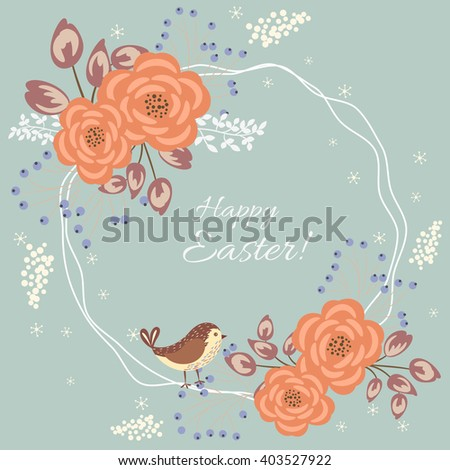 Happy Easter card - vector background