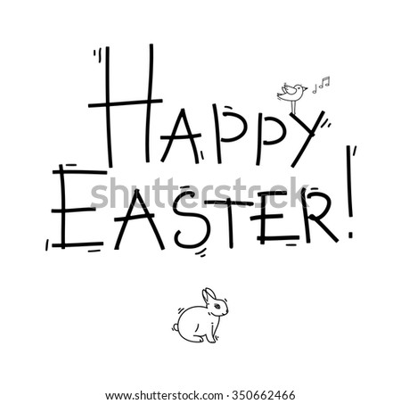 Happy easter cards illustration - stock vector