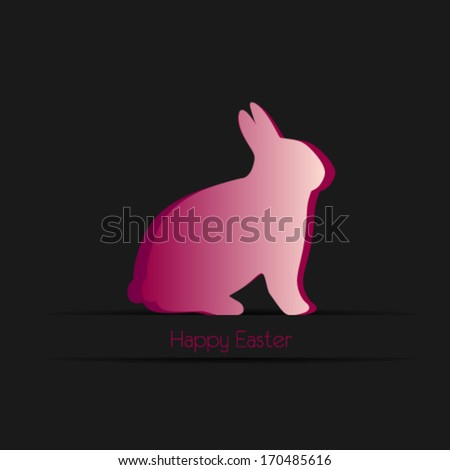 Happy easter cards illustration with easter bunny, - stock vector
