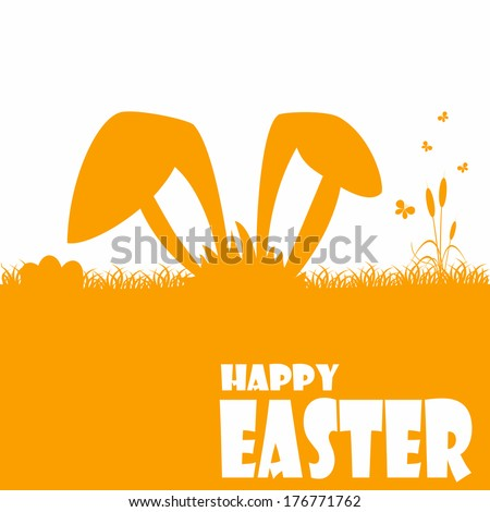 Happy easter cards illustration with easter egg  and fonts. Vector. - stock vector