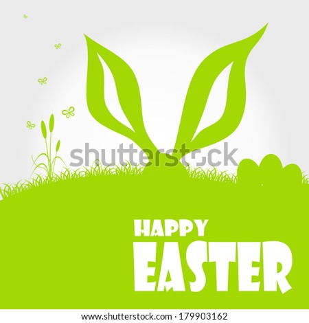 Happy easter cards illustration with easter egg  and fonts. Vector.