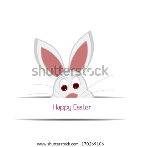 Happy easter cards illustration with easter eggs, easter bunny, - stock vector