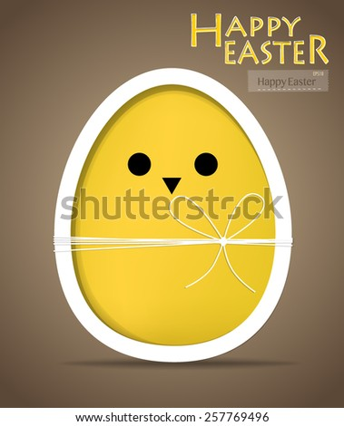 Happy easter cards with easter egg. Vector illustration. - stock vector