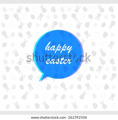 Happy Easter celebrations greeting card design. vector eps10. - stock vector
