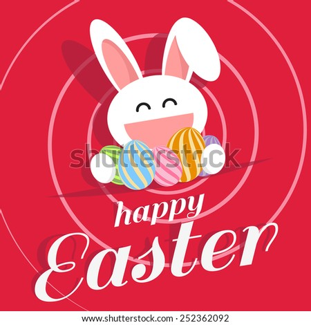 happy easter day for card design - stock vector