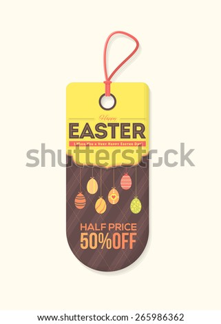 Happy Easter Day Price , Discount Tag Objects, Banner, Label Vector Design - stock vector