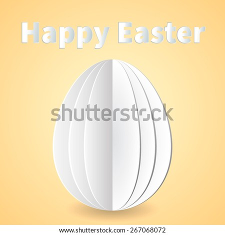 Happy Easter decorated card. Vector illustration - stock vector