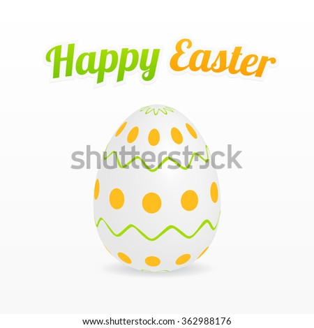 Happy Easter design with egg for greeting cards, banner, background etc - stock vector
