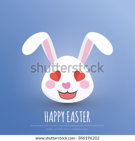 Happy Easter Easter Bunny Head Rabbit Stock Vector 386196202 ...