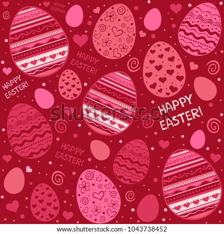 Happy Easter Seamless Pattern With Eggs Wallpaper Perfect