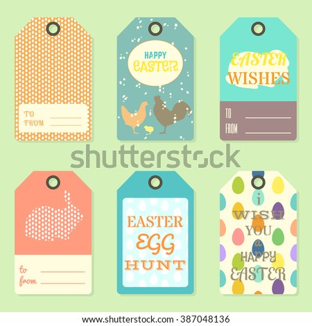 Stock images royalty free images vectors shutterstock happy easter gift tag templates vector illustration negle Image collections