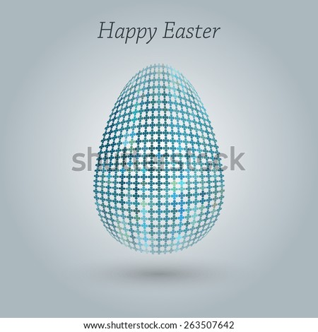Happy Easter greeting banner. Eps10 Vector illustration