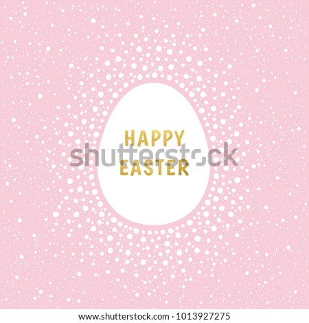 Happy Easter Greeting Card Template Gold Stock Photo Photo Vector