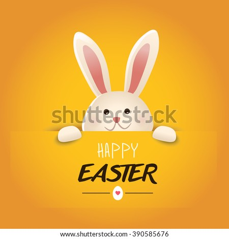 Happy Easter greeting card.Vector - stock vector
