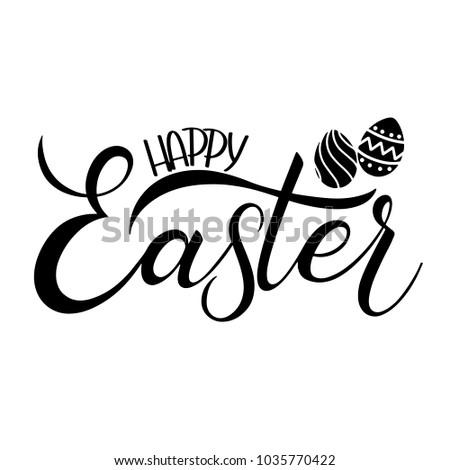 Happy easter lettering hand written easter stock vector 1035770422 happy easter lettering hand written easter phrases seasons greetings m4hsunfo