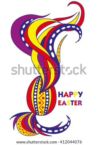 happy easter postcard design