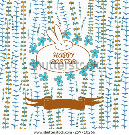 Happy Easter postcard. Vector Illustration