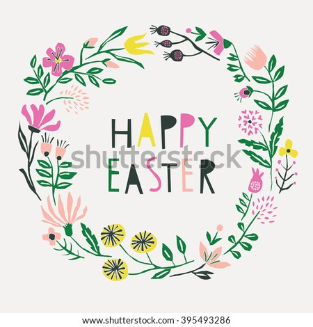 Happy Easter. Print Design - stock vector