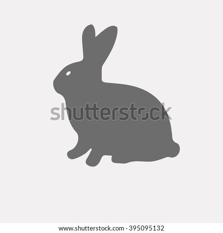 Sitting Rabbit Silhouettes Background Design Empty Stock ...