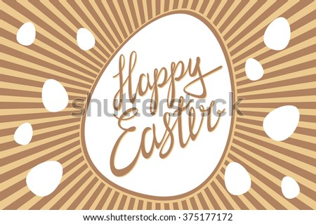 Happy Easter / Vector lettering art card - stock vector