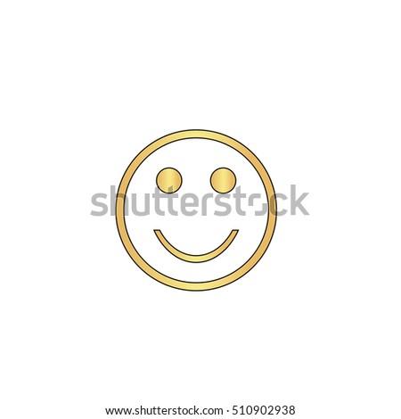 Happy Face Gold Vector Icon Black Stock Vector 510902938 Shutterstock