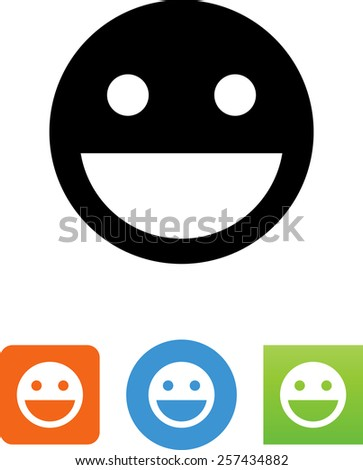 Happy face smiling. Vector icons for video, mobile apps, Web sites and print projects. - stock vector